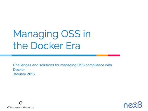 Managing open source software in the Docker era
