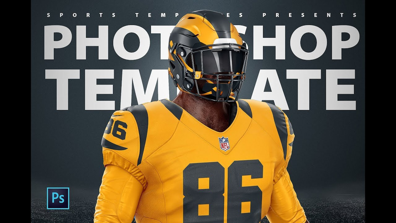Download Football uniform Template mockup | Rams Color Rush ...