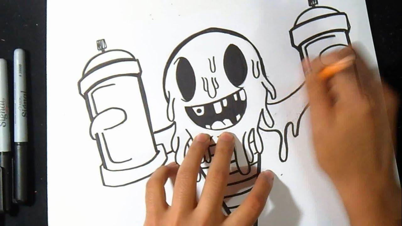 como Dibujar Cono de Helado con Sprays Graffiti  YouTube