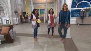 LOGO by Lori Goldstein Knit Vest with Printed Trim and Pockets on QVC(, 2017-08-11T14:41:38.000Z)