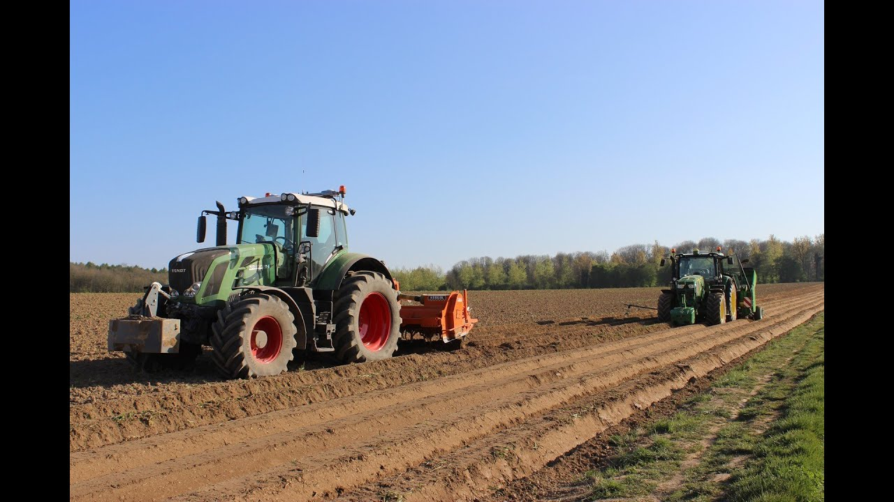 plantation de pommes de terre avec fendt 824 et john deere. Black Bedroom Furniture Sets. Home Design Ideas