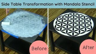 How to Stencil on Wood Using a Flower Of Life Stencil Pattern
