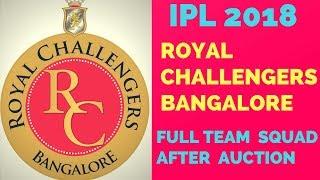 IPL Auction 2018: Royal Challengers Bangalore Final Players List || RCB Final Squad For IPL 2018