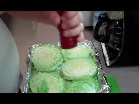 Garlic Roasted Cabbage Steaks