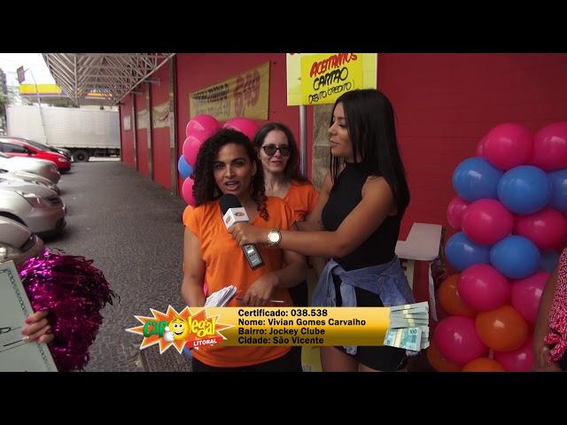Erotilde e Elioá de Itanhaém e Vivian de São Vicente, dividiram 10 Mil Reais