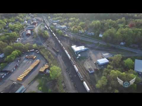 Chatham NY Early Sunday Morning Freight Train