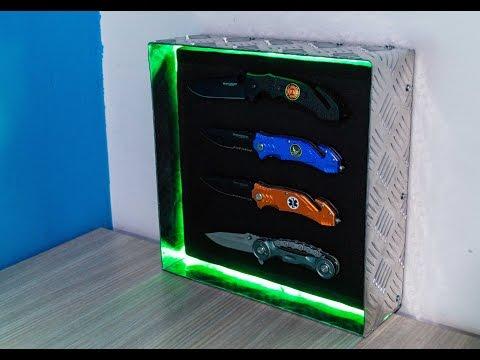 DIY Knife Display Case - Magnum Pocket Knife