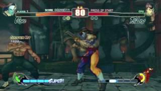 Street Fighter IV Vega Arcade Playthrough 1 2 HD