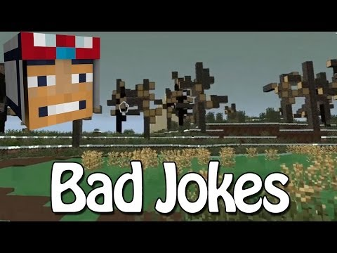 Minecraft - Race To The Moon - Bad Jokes! [12]