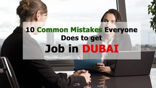 HOW TO GET A JOB WITHIN 1 DAY IN DUBAI UAE !!!
