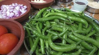 village Cooking pachamulaku kara kulambu in tamil / chilli kulambu Cooking By Village food Recipes