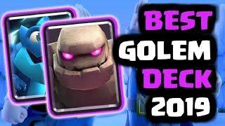 BEST GOLEM DECK FOR 2019 | OP Golem Electro-Dragon Deck in Clash Royale!