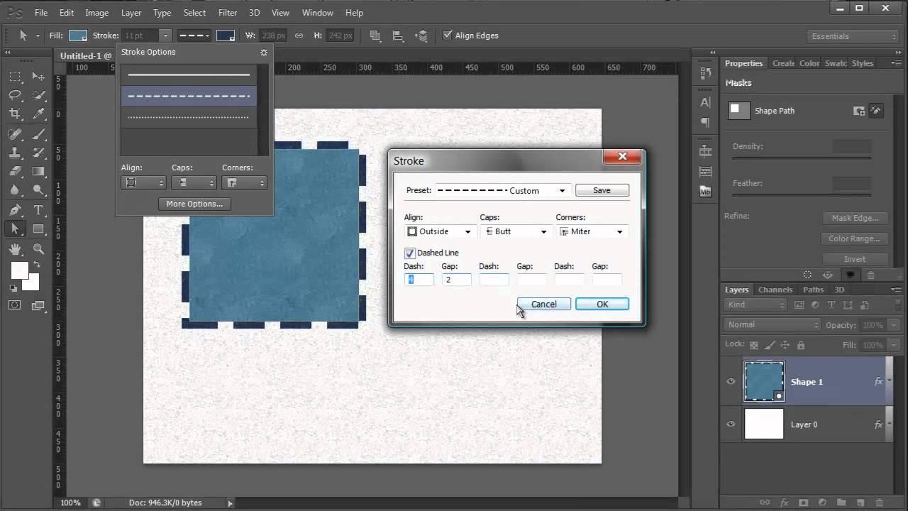 Как сделать пунктирную линию в иллюстраторе