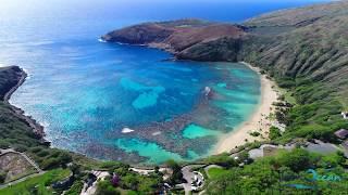 Phantom 4 Pro Oahu, Hawaii 4K Drone Flight Honolulu Kailua Beach Hanauma Bay Diamond Head 2017