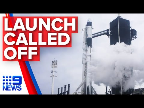Astronaut explains why SpaceX launch cancelled | Nine News Australia