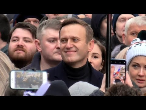 Шествие, марш памяти Бориса Немцова в Москве. 29.02.2020. 50К участников.