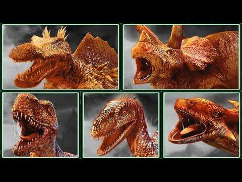 Dino Fight: Spinosaurus Vs. Velociraptor Vs. Triceratops Vs. Ankylosaurus Vs. T-Rex | Eftsei Gaming