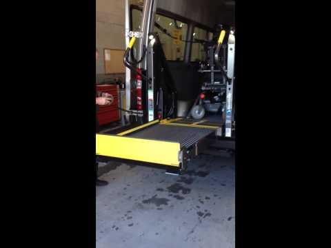 Braun Wheelchair lift installed in a Sprinter Van