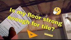 🤔Before you install tile find out if the floor is strong enough?  What you need to know.