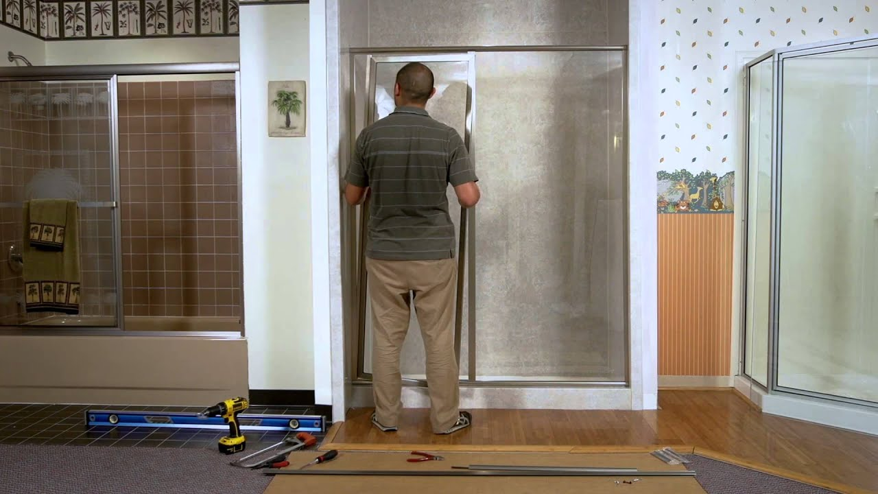 Shower Doors - How To Install A Paragon Framed Door & Adjacent ...