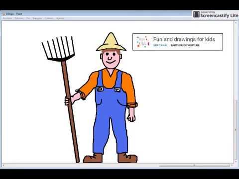 Dibujo De Granjero Agricultor Para Niños Con Canción The Farmer In The Dell