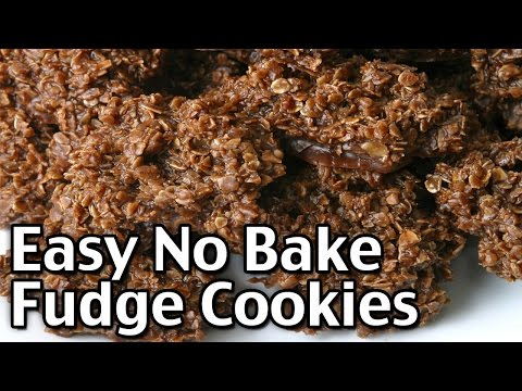Easy No Bake Fudge Cookies