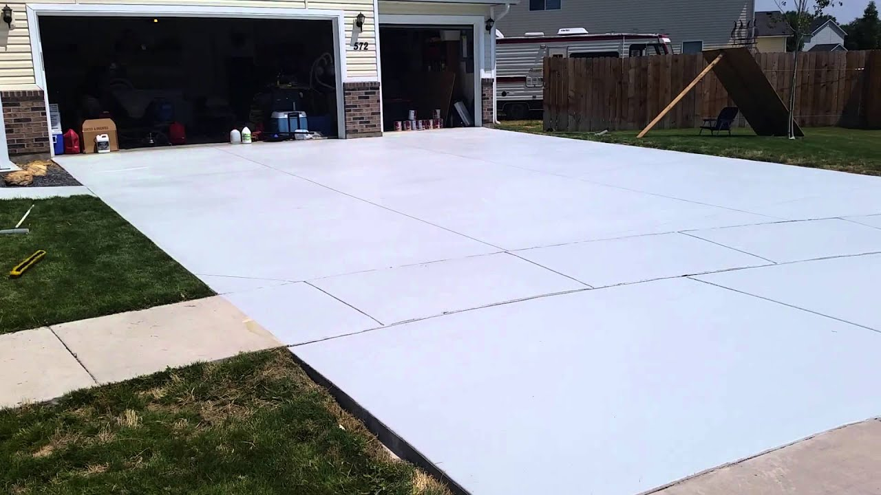 Valspar concrete sealer review - YouTube