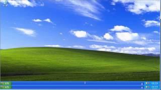 윈도우 xp 작업 표시줄 이동 및 설정방법