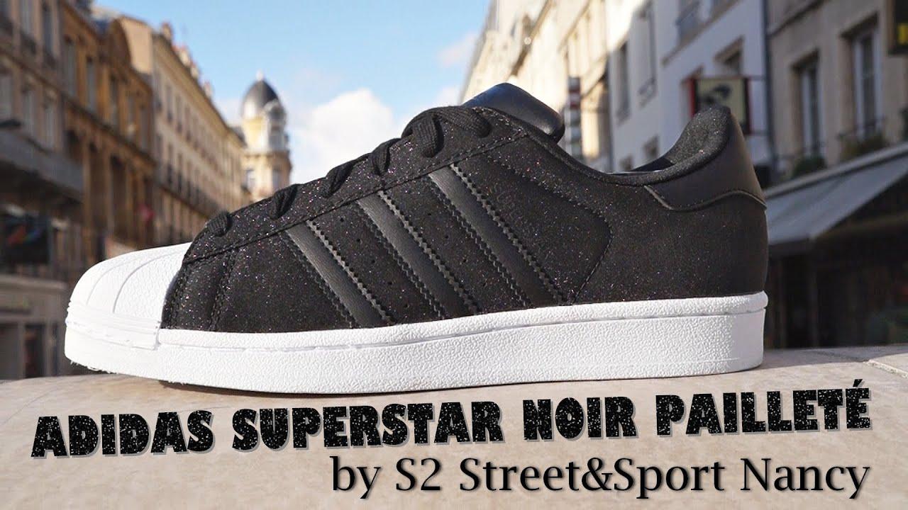 adidas superstar noir paillette