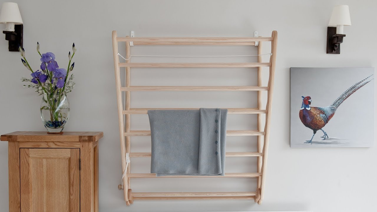 julu laundry ladder clothes airer wall mounted clothes drying rack