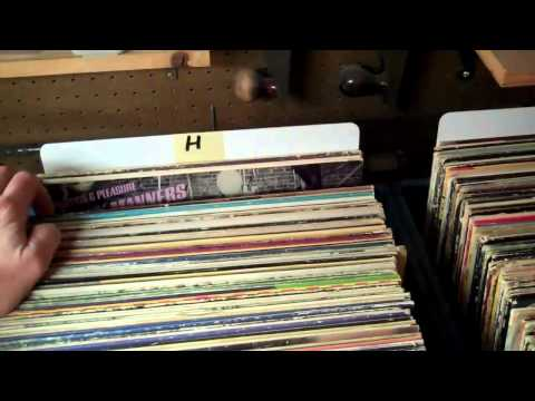 Curtis Collects Vinyl Records: What's in MY Collection in the Man Cave/Record Room