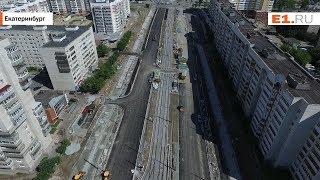 Улицу Татищева за две недели до открытия сняли с высоты птичьего полёта