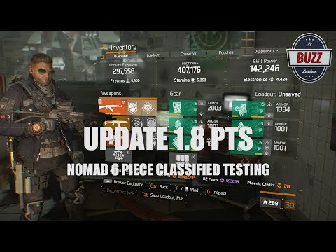 THE DIVISION | You Nomad Bro? - Update 1.8 PTS Nomad Classified
