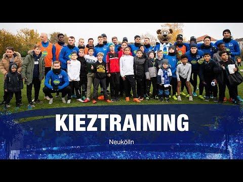 Kieztraining in Neukölln - Bratwurst, Tunnler und die Skill-Challenge - Hertha BSC