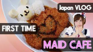 MAID CAFE IN AKIHABARA! | JAPAN VLOG #2 (2016)