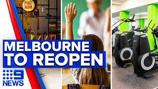 Coronavirus: Recreation centres, businesses and schools to reopen | 9 News Australia