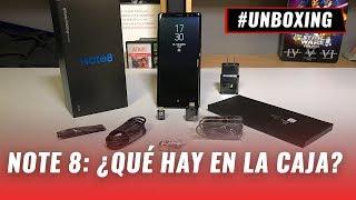 Galaxy Note 8, unboxing en español