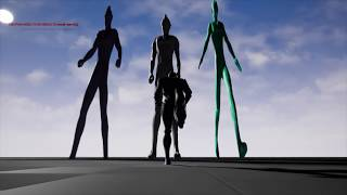 Ultraman Statues Map Unreal Engine Test