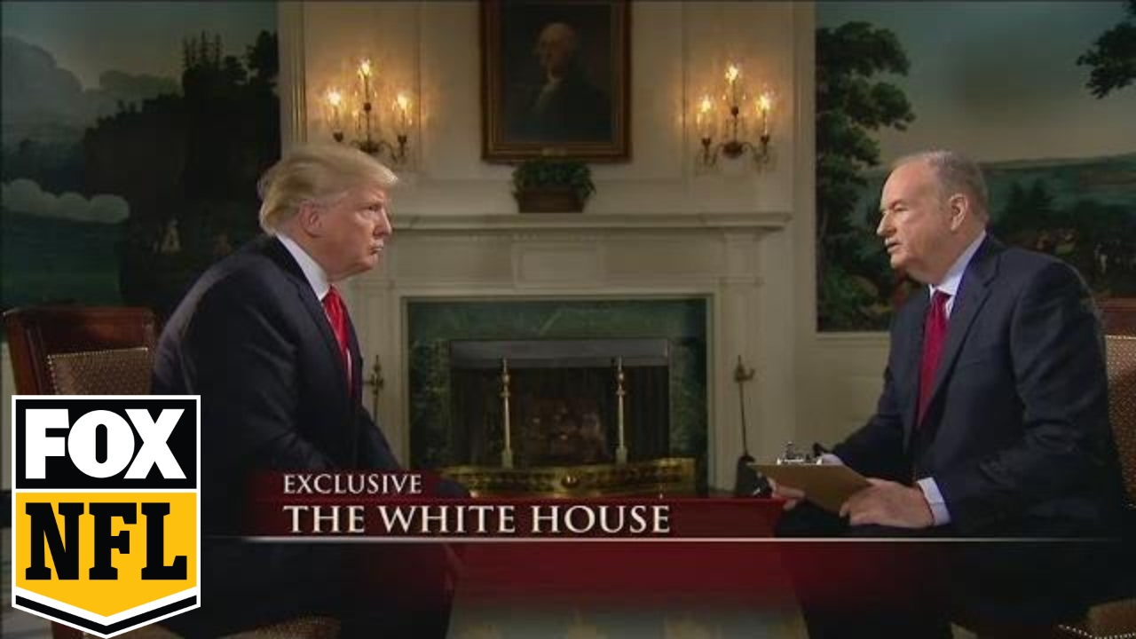 small resolution of bill o reilly interviews president donald trump before super bowl li fox sports youtube