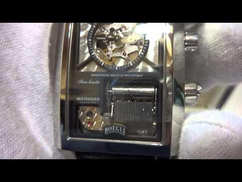 Boegli mechanical musical wristwatch
