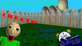 GETTING OUTSIDE! NOCLIP, 3D CAMERA, AND INFINITE ITEMS! (Baldi's Basics Cheat Mod)