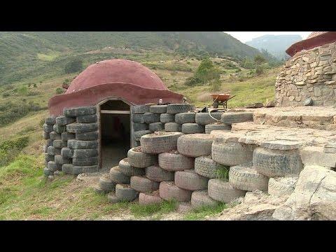 Llantas para construir casas youtube for Casas para construir