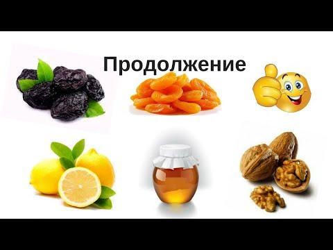 Курага Чернослив Орехи Мед Лимон/Продолжение