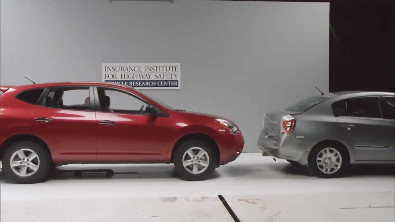 crash test example of front into rear 10mph low speed crash