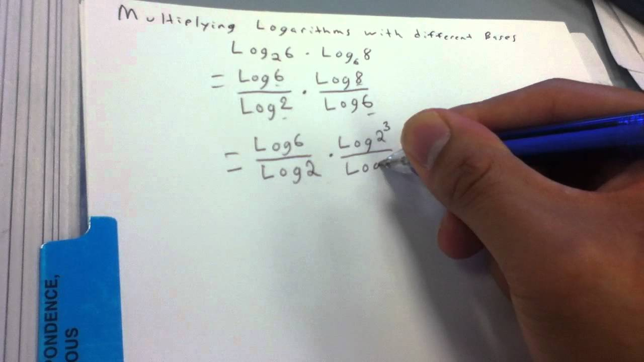 Adding and subtracting logs with different bases in dating 9