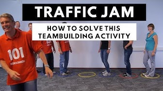 Teambuilding activity: Traffic Jam game and how to play and how to solve it