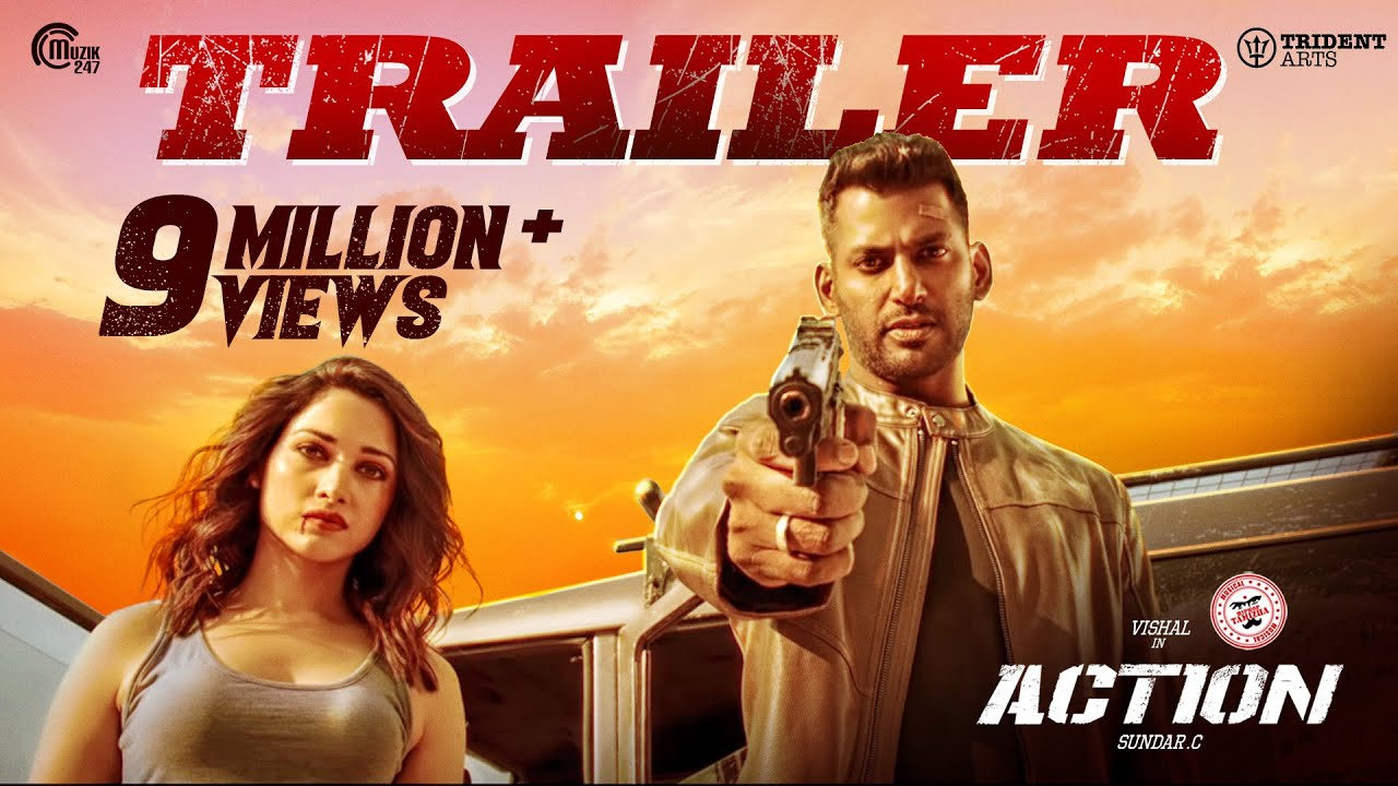 Download Action Trailer I Vishal, Tamannaah I Hiphop Tamizha I Sundar.C I Official