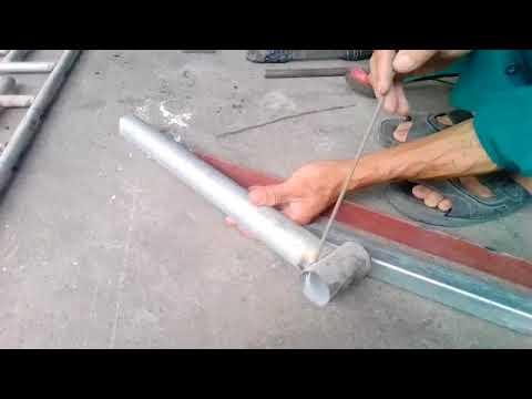 Cách hàn vật liệu bằng típ ( ống tròn) đẹp .Welded steel material (round tube) beautiful