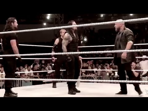 Triple H confronts The Shield in Abu Dhabi