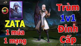 Liên quân Tướng mới ZATA Đỉnh cao 1v1 Cách Múa 1 combo 1 mạng | AOV new hero ZATA TNG